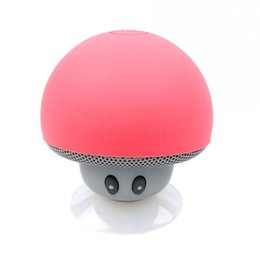 2017 Mini Wireless Bluetooth Speaker Mushroom Hands Free Sucker Cup Audio Receiver Music Stereo Subwoofer USB For IOS Android PC