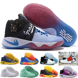2017 New Colors Kyrie Irving 2 Doernbecher Charity What the Mint Green Basketball Shoes for Top quality Irving2 Baby, Kids shoes