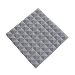 2017 5 Pack of 19.6''x19.6''x1.9'' High-density Fireproof Gray Polyurethane Sponge for Sound Absorption with Quick Installation Tips