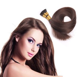 Best Quality Wholesale I tip Keratin Fusion Hair Extensions 50G Straight Brazilian Indian Peruvian Remy Human Hair 16-26inch