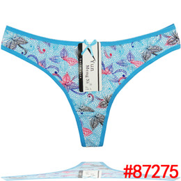 Fashion New Style G-strings Special Leaves Printing Sexy Girls G Strings Colorful Ladies Soft Cotton Briefs
