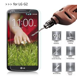 100PCS Tempered Glass Screen Protectors For LG G2 Optimus D801 D802 2.5D Explosion Shatter Screen Protector Film DHL logistics