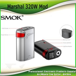 Wholesale Authentic SMOK Marshal G320 Box Mod Powerful W TC Mod Best Match SmokTech TFV8 Big Baby Tank Genuine