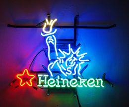 Wholesale New Tat tire Neon Beer Sign Bar Sign Real Glass Neon Light Beer Sign ME Heineken Liberal x15