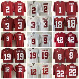 Wholesale 2017 College Jerseys Alabama Crimson Tide Derrick Henry Jersey Nick Saban Jake Coker Kenyan Drake Bateman Ragland Red White