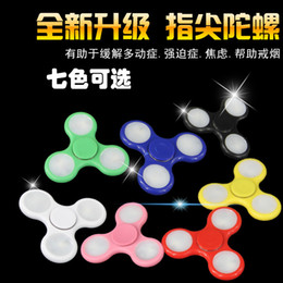 LED Light Up Hand Spinners Fidget Spinner Top Quality Triangle Finger Spinning Top Colorful Decompression Fingers Toys
