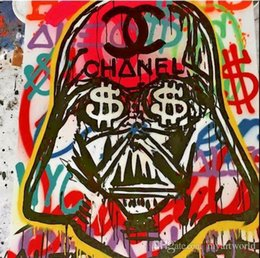 Framed High Quality genuine Hand Painted Abstract Alec monopoly Graffiti Pop Art Oil Painting On High Quality Canvas Multi Sizes TY001
