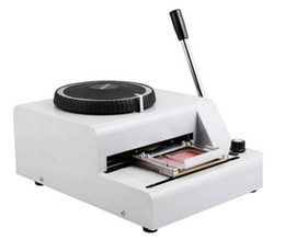 Wholesale 72 Character Manual Embosser Embossing Machine PVC ID Credit Card Embosser Stamping Machine Code Printer MYY