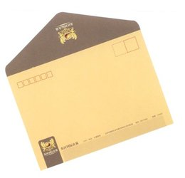 Custom printed envelopes Kraft offset wood-free paper Envelopes with window for business mailing wedding gift Printer Szie DL ZL C4 C5 A5
