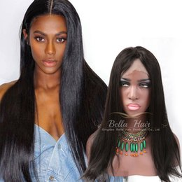 Wigs For Black Women Virgin Human Hair Weaves Full Lace Human Hair Wigs Straight Hair Medium Cap 150% Density Natural Color Bellahair