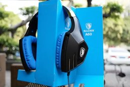 2017 casque de jeu professionnel Original SADES A60 Jeu Casque Black-Blue Studio ordinateur Shock headband Mic 7.1 Sound Professional Video Gaming casque casque de jeu professionnel offres