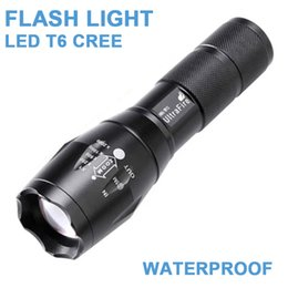 LED T6 Flash Light Adjustable Zoom Flash Light Torch Cree 2800 Lumens Waterproof 3XAAA Or Rechargeable 18650 Battery