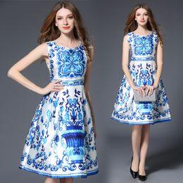 Descuento damas mini vestido vestido 2017 mujeres sin mangas del nuevo estilo del verano una línea vestidos de una sola pieza de la oficina del vestido Vestido de bola femenino de Vestido