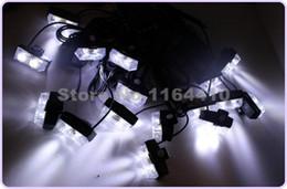 Descuento nave de luz estroboscópica de advertencia El flash de la emergencia del estroboscópico de los modos que destellan del camión 8 del coche del poder más elevado 16 * 2 32 LED advierte la luz de advertencia del parpadeo de la parrilla todo el envío libre blanco