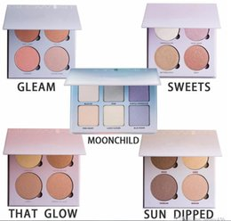 Wholesale Glow Kit Metallic Powder Bronzers Highlighters Glow Face Makeup THE Glow Gleam Powder Palette Good Quality