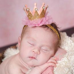 Princess Crown Baby girl 1st Birthday Headband, Smash Cake outfit, Pearl Headband, Girl Crown Headband, Crown Tutu, GLITTER