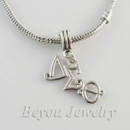 Wholesale Greek Delta Sigma Theta Sorority alphabet charm DST charms product with lobster clasper or Ring