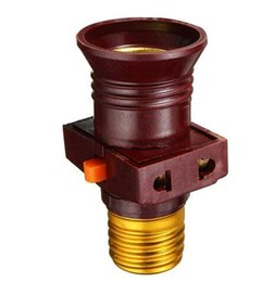 Lamp Base E27 Light Bulb Screw Lamp Base Holder Converter Socket To With Socket Switch Adapter Rated voltage AC110-250V 6A
