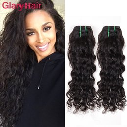 Acheter en ligne Ondulation ondulée-Glary Natural Wave Fashion Brazilian Hair Weave Bundles Water Wave Silky Virgin Grandes extensions de cheveux bouclés Remy Human Hair Weaves Wholesale