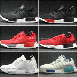 Wholesale Adidas NMD Runner Shoes NNM_R1 Monochrome R Mesh Primeknit Triple White Black NMD R1 Women Men Running Shoes Sneakers Sports Shoes