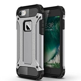 Wholesale For iPhone Dual Layer Slim Hybrid Armor Case iPhone7 Plus Pro Shockproof Silicone PC Hard Back Tough Cover Phone Cases