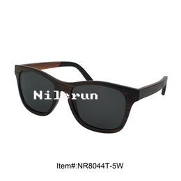 luxury vintage black wooden full frame sunglasses with acetate temples