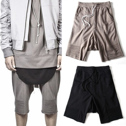 Wholesale Summer Dress Dark Fashion Hip Hop Loose Hight Street Harem Cotton Sweat Shorts Kanye West Justin Bieber Short Fear Of God