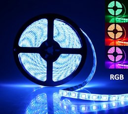 Wholesale Leds Lights For Trucks - LED Strip Lights Waterproof SMD 5050 300 LEDs Flexible RGB Light Strips with 24Keys IR Controller and Power Supply for Trucks Boats Kitchen
