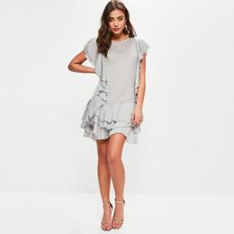Party Short Dress Summer Girl Beach Bohemian Plus Size Dresses Brazil Vestidos Mujer Pure Silk Ruffle Dress Sexi Women 2017 New 50F0051