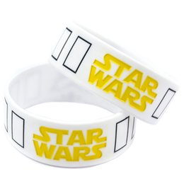 Wholesale Shipping 50PCS Lot 1'' Wide Band Star Wars Stormtrooper Mask Silicone Wristband Bracelet Promotion Gift