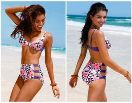 2017 New Arrival sexy women bikini swimsuit fashion floral printed 2 pieces bikinis new style swimwear hot summer beach wear sale