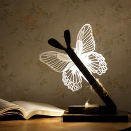 Compra Online Noche de mariposa-Luz de la noche de la muchacha, lámpara del estudiante, regalo de la muchacha, lámpara del dormitorio, iluminación de la oficina, forma de la mariposa 3D, protegen la vista.