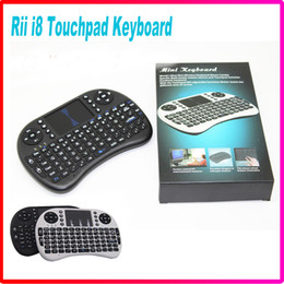 Wholesale Rii I8 Smart Fly Air Mouse Remote GHz Wireless Bluetooth Keyboard Remote Control For Android Box White Black