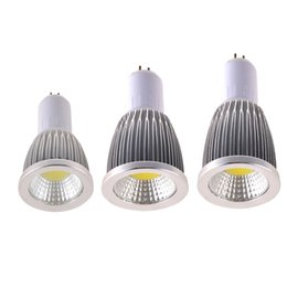 Wholesale New Ultra Brillante CREE LED Bulbs COB Light MR16 GU10 E27 Dimmable W W W Colors CE Certificate New With Tags Retail Package Dropship