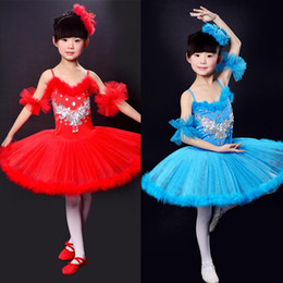kids Professional ballet dresses pageant tutus Spaghetti Strap girls dance party dress ballet tutu for children candy color free shipping