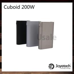 Wholesale Joyetech Cuboid W Caja de TC Mod Nuevo interfaz con firmware actualizable Custom Logo Triple Cells Original
