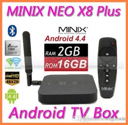 Acheter en ligne Amlogic android-MINIX NEO X8 Plus 2G 16G Android TV Box Amlogic S802 Quad Core 2.0GHz 2G / 16G 2.4G / 5GHz WiFi STB102