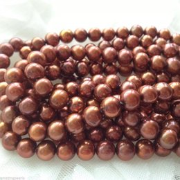 Natural Freshwater Pearls Strand Loose Beads Chocolate Pearls Round Pearls Perfect For Jewelry Making Gemstone Quality Wholesale