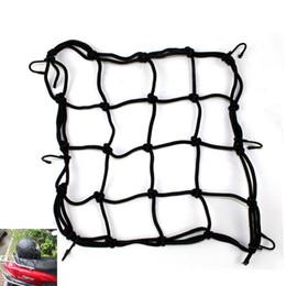 Wholesale Hot Sale Black Motorcycle Luggage Net Bike ATV Bungee Tank Helmet Web Cords Mesh Cargo Net Hook Tuck Net String Bag x cm