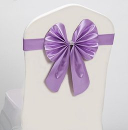 Wholesale Mixed Color Lycra Spandex Chair Band With Poly Bow Used For Wedding Spandex Chair Cover JF