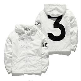Wholesale Designer Jacket Men KANYE Hip Hop black white Windbreaker Jackets Men Women Streetwear Fashion Outerwear uniform coat men clothing