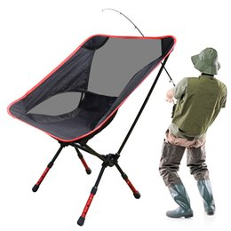 Wholesale Folding Campstool Fishing chair Aviation Aluminium Outdoor Camping Hiking Picnic Garden Chair BBQ camp Stool Folding Seat