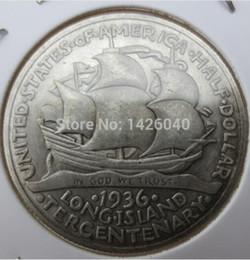 Hot Selling 1936 Long Island Commemorative Half Dollar Promotion Cheap Factory Price nice home Accessories Silver Coins