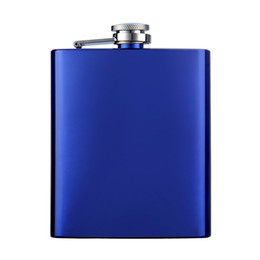 7 oz Shinny color coating whisky Flask with Screw Cap