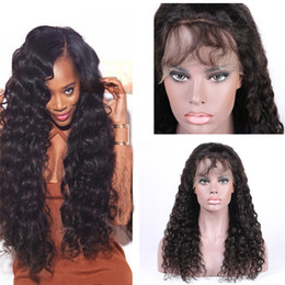 Lace Front Human Hair Wigs For Black Women Deep Wave Brazilian Remy Hair Natural Black With Natural Hairline Crochet hair Closure