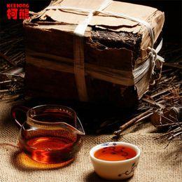 Wholesale Ripe Pu er Tea g Oldest Puer Tea Ancestor Antique Honey Sweet Dull red Puerh Ancient Tree Pu er Tea Brick