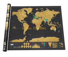 Wholesale x59 cm Black Scratch Map World Travel Scratch Off Map Best Gift for Education School mapa mundi mapa