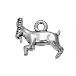 18 * 12.3 argent antique plaqué chapeaux de capricorne de chèvre de Billy bijoux de nature de bricolage faisant pour le bracelet ou le collier Vente en gros 30pcs à partir de charmes de chèvre fournisseurs