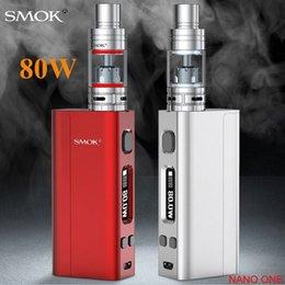 Descuento la electrónica de apv Venta al por mayor-cigarrillo electrónico SMOK nano un kit 80W caja mod con Nano TFV4 VCT Pro atomizador Vape E-cigarrillo vaporizador X9038