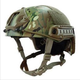 Wholesale FAST Tactical Helmet Standard Edition MH Style Hip Hop Training Field Helmet CS Army Outdoor Motorcycle Bicycle Helmet Frame Crye Precision